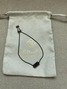 NWOT Kendra Scott Gunmetal Phillipa Bracelet With Black Drusy Stone