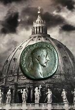 Numis - Sesterzio di Commodo - IMPERATORE SEDUTO SU PEDANA moneta romana antica