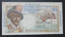 Très Beau Billet de 50 Francs - Martinique - Belain d'Esnambuc - TTB+
