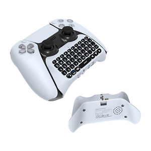 White Wireless Mini Keyboard for the Sony Playstation 5 DS5 controller