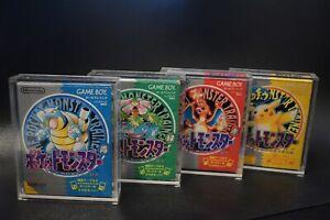 JAPANESE POKEMON GAMEBOY GAMEBOY COLOUR GAME ACRYLIC DISPLAY CASE