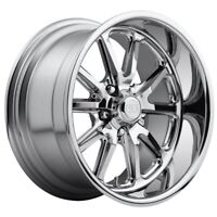 17x8 Us Mag Rambler U110 5x4.5 et1 Chrome Wheels (Set)