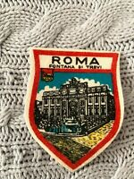 Vintage Roma Fontana Di Trevi Embroidered Badge