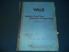 YALE MHTA INDUSTRIAL POWER FORKLIFT TRUCK INSTRUCTION PARTS MANUAL BOOK CATALOG