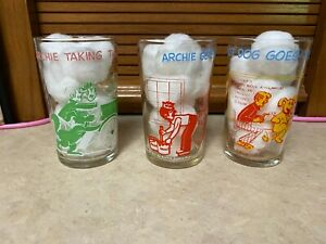 THREE ARCHIE GANG COMIC JELLY GLASSES