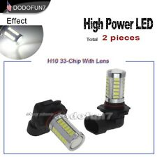 2pc White H10 9145 High Power 33-chip LED Replacement Bulb for Fog Drving Light