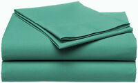 400TC Egyptian Cotton SHEET SET Custom Extra Deep Pocket Percale Aqua Green