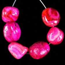 Freeform Pendant Bead D64129 6pcs/set Peach Crazy Lace Agate