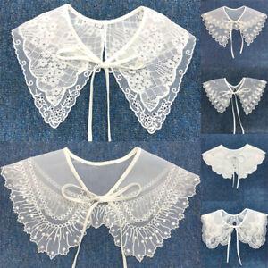 Women Lace Fake Collar Cloud Shoulder False Collar Shirt Detachable Collar tr