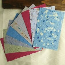 9 Sheets of Handmade Paper - Recycled Paper - 8.5 in x 5.5 in sheets
