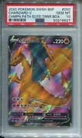 Pokemon PSA 10 SWSH050 Charizard V Full Art Sword and Shield Champions Path