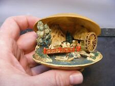 Vtg japanese Celluloid Clam Shell Diorama