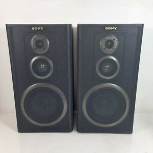 Sony SS-A701 3 Way Speakers 6 Ohms Impedance 120W Hi-Fi Stereo - Black - Tested