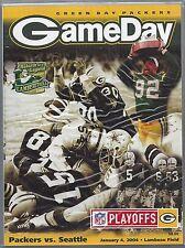 2003-04 NFL SEAHAWKS @ PACKERS WILD CARD PLAYOFF FOOTBALL PROGRAM - FAVRE