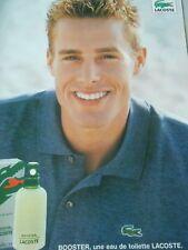 Publicitté Advertising 1998  Parfum Lacoste Booster