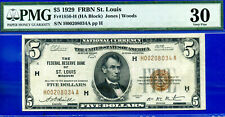 1929 $5 National (( FRBN - St. Louis  )) PMG Very-Fine 30 # H00208034A.
