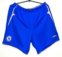 CHELSEA LONDON CENTENARY 2005/2006 HOME FOOTBALL SHORTS JERSEY UMBRO SIZE L
