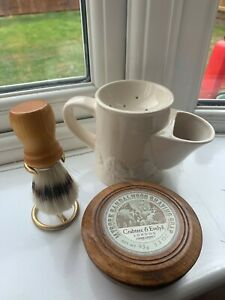 Masons Crabtree & Evelyn Shaving Mug, Brush and Soap