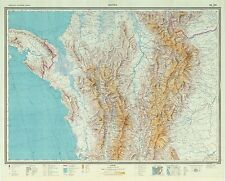 Russian Soviet Military Topographic Maps - BOGOTA (Colombia) 1:1M, ed. 1968