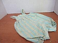 CARTERS KIDS~Yellow Blue Green White Plaid INFANT ROMPER~Girls 0-3 Months