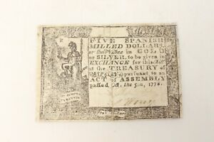 Rare Authentic American Revolutionary War Pension - Oct. 5 1778 Dated