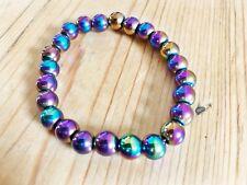 Titane magnétique hématite power bracelet ésotérique gemstone crystal reiki wicca