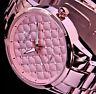 Excellanc Damen Armband Uhr Rose Gold Farben Rosa und Weiße Strass Steine 3
