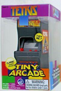 TETRIS Tiny Arcade Electronic Game Mini Joystick Tetriminos Toy Doll Desk NEW