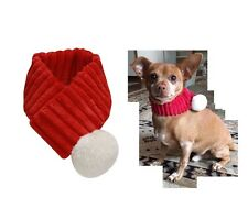 HOLIDAY Santa Scarf for Dogs - XS - M - Easy to wear Holiday Photo
