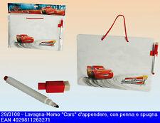 Lavagna memo Cars per cameretta bimbi con pennarello