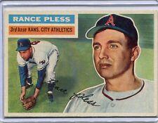 1956 Topps Baseball Card Rance Pless Kansas City Athletics G/B EX MINT # 339