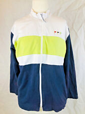 N&VY S Ladies white green navy golf jumper, zipper, mesh inner, Australian made