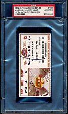 2014 LeBron James Ticket 1st Game back w Cleveland Cavaliers vs Knicks 10/30 PSA