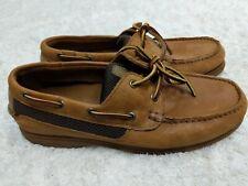 St. John's Bay Boat Shoes Leather Tan Men 9.5