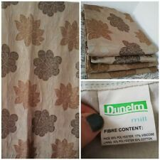 "Dunelm Brown flower Curtains 4 pieces 2x 88"" X 88"" + 2x 88"" X 44"" Blackout gold"