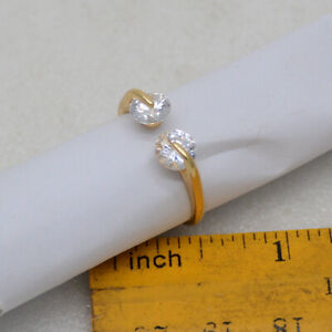 Madewell signed jewelry 18k gold plated CZ cut crystals Ring Adjustable for girl