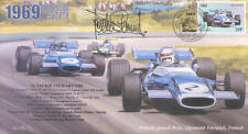 1969 Matra MS80 Brabham BT26A Clermont-Ferrand F1 Cubierta firmado Jackie Stewart