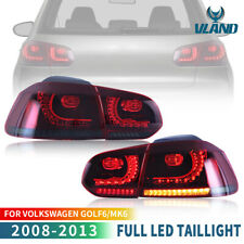 Red Smoked LED Sequential Tail Lights For Volkswagen Golf 6 MK6 GTI R 2010-2014