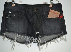 True Religion, Joey, Cut Off, Shorts, Size 30, EKM, Hot Lead Gray