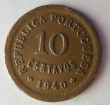 1940 PORTUGAL 10 CENTAVOS - Excellent Coin BARGAIN BIN #180