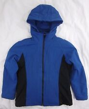 Women's Size Large Eddie Bauer Soft Shell Insulated Parka Jacket Coat Blue Black