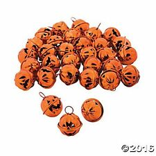 "24 Metal Jack-O'-Lantern Jingle Bells 1"" Pumpkins Perfect Holiday Crafts & Decor"