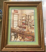 Vintage Home Interior Homco Coke Coca-Cola General Country Store Framed Print