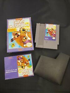 Mickey Mousecapade Nintendo NES Video Game in Box Disney Capcom Manual