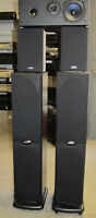 PolK Audio 5 pc. Speaker System, CS1751, RT600I, R10