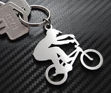 BMX Biker Fahrrad Radfahrer Schlüsselanhänger Schlüsselbund Schlüssel Edelstahl