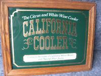 Vintage California Cooler Wine Advertising  Mirror sign framed vintage