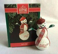 Hallmark Golf's a Ball Snowman Keepsake Christmas Ornament New in Box 1992