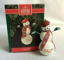 Hallmark Golf's a Ball Snowman Keepsake Christmas Ornament New in Box 1992