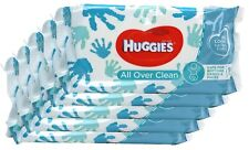 Huggies All Over Clean Baby Wipes With Resealable Tape Top, 56 Wipes - 5 Packs!